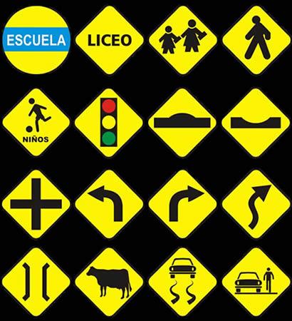 Señales de advertencias en el tránsito provistas por la Academia ...
